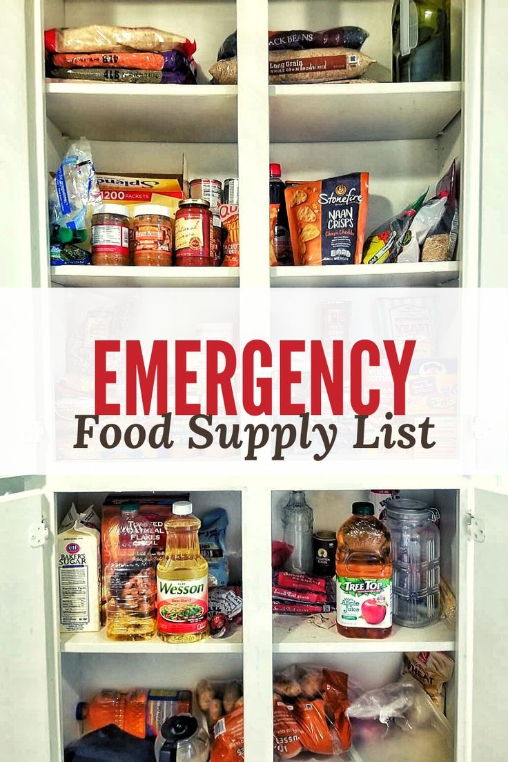 Affordable food to buy during an emergency food supply