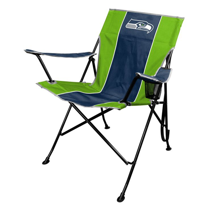 This Seattle Seahawks TLG8 Chair with Carrying Bag is made of heavy duty polyester and has a weight rating of 250 pounds. This officially licensed tailgating chair features your favorite team's logo i