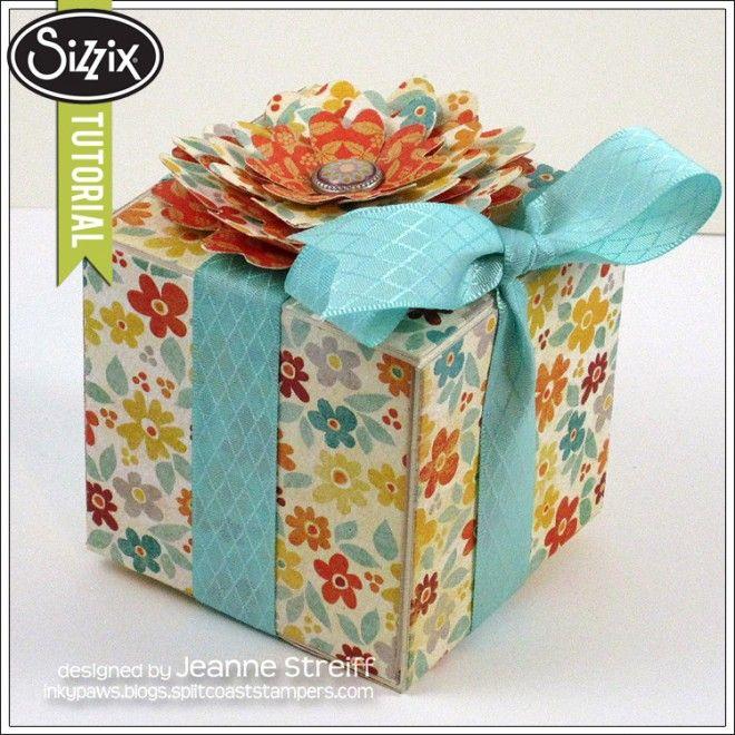Sizzix Tutorial | Spring Gift Box by Jeanne Streiff