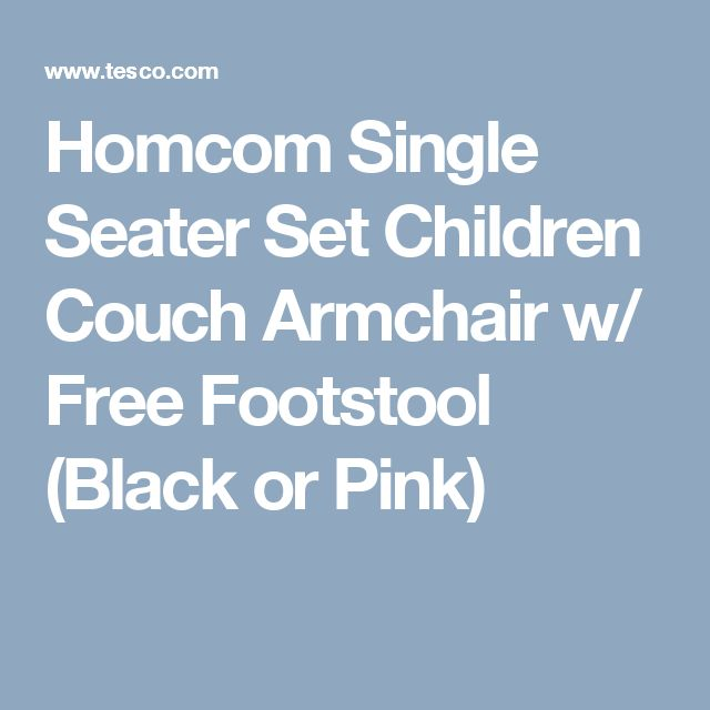 Homcom Single Seater Set Children Couch Armchair w/ Free Footstool (Black or Pink)