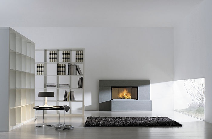 contemporary mantel for fireplace (stone) STEP PIETRA SERENA GIROLAMI CAMINETTI
