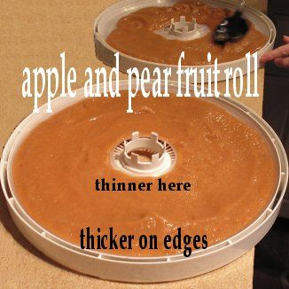 THICKER on the edges, thinner in the middle! More info. at easy-food-dehydrating.com