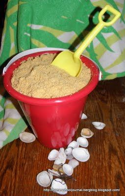 Edible Sand dessert #recipe from @Phyllis Bergenholtz. #kidsinthekitchen