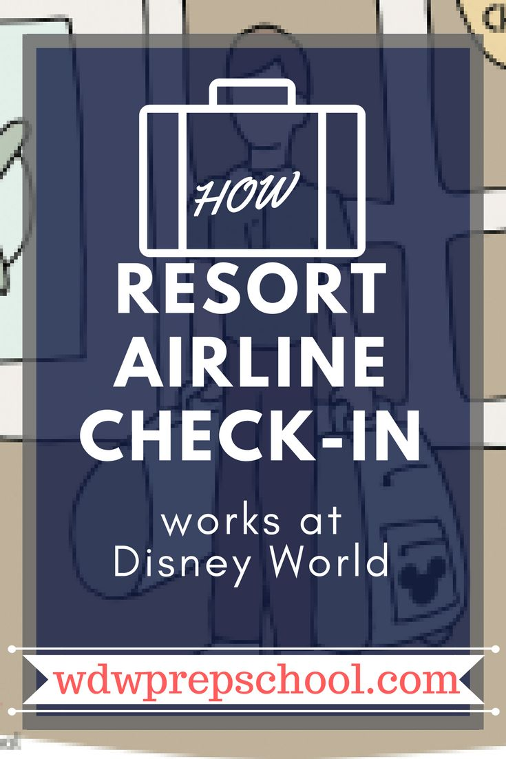 Did you know you can leave your luggage at Disney World and they'll take it BACK to the airport for you? Learn how it works! Disney World Resort Airline Check-in #disneyworld #disneyresorts #disneytips