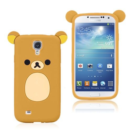 Cute Bear (Brun) Samsung Galaxy S4 Deksel