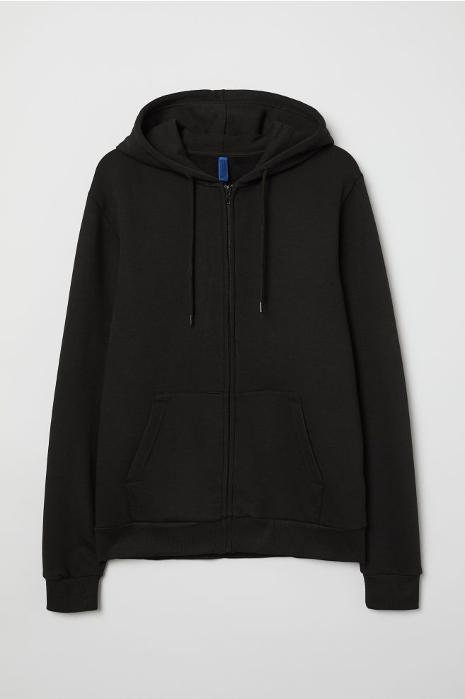 29bca50d2 H&M Hooded Jacket - Black in 2019 | clothes | Hooded jacket, Gray ...