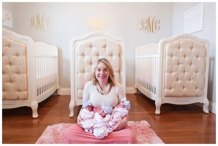 gorgeous triplet nursery  www.tracyesphotography.com