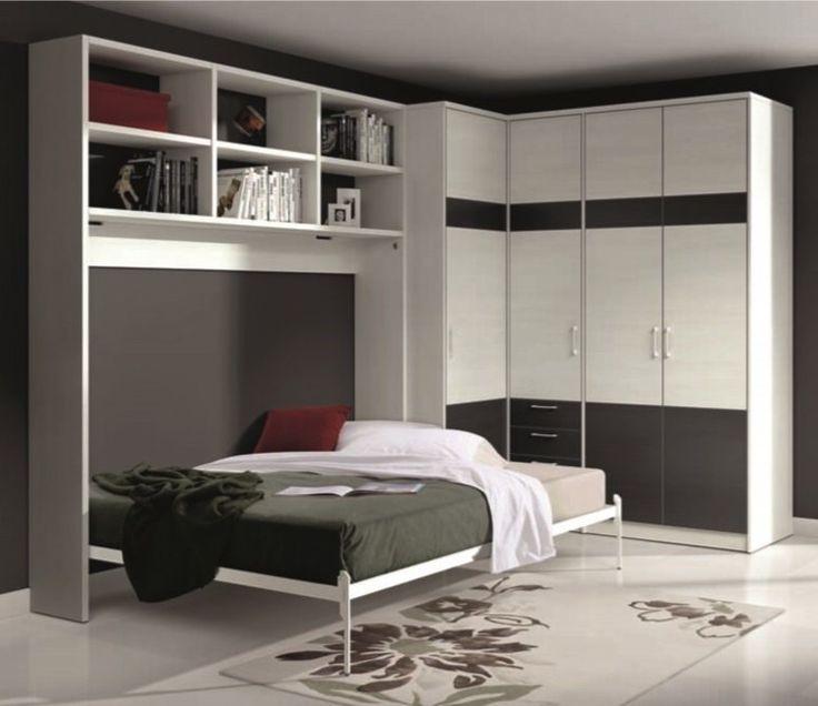 Armoire lit escamotable athena avec dressing et rangements - Armoire lit escamotable but ...