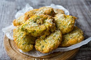 Zucchini Fritters Recipe Zucchini fritters are delicious morsels of crispy goodness. The combination of salty pecorino cheese with flavoursome zucchini are a match made in foodie heaven. Try one. Or two…you'll end up eating them all! Watch video recipe: How to Make Italian Zucchini Fritters   Best Zucchini Recipe Ever Ingredients: 5 x eggs 5 ...