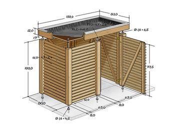 die besten 25+ mülltonnenbox selber bauen ideen auf pinterest, Moderne