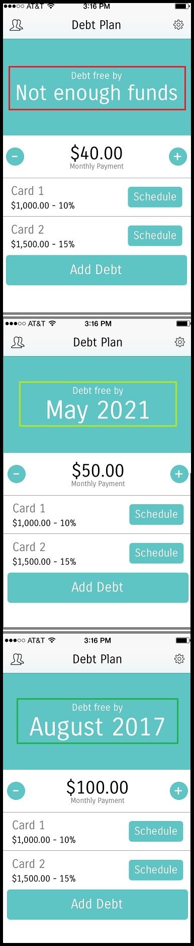 This app is really cool and really simple. It will help you estimate how long to pay off your debt. It's free too! It's about time to create a plan and get that debt paid off! Do it like we did.