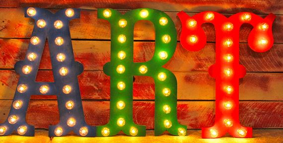 "24"" LARGE Circus Vegas Carnival Marquee Letters Wood...........       A B C D E F G H I J K L M N O P Q R S T U V W X Y Z"