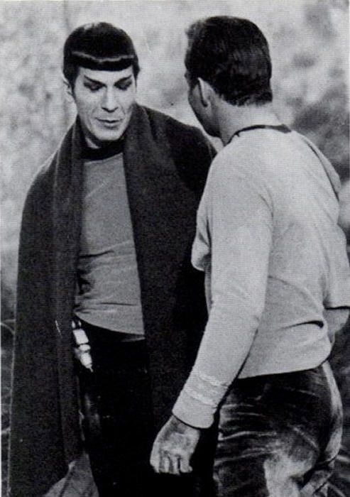 James Kirk and Spock  (These rare, and sometimes odd, photos are a real treat. After over 40 years I thought I'd seen them all.)