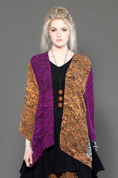 Короткая кимоно-куртка в печатной печати «Ошима»