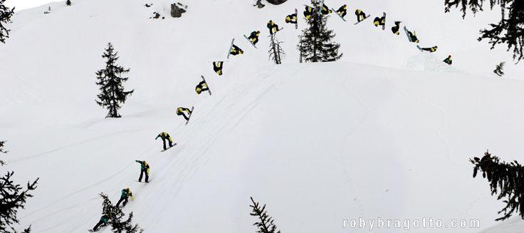 Treb freestyle snowboard Camp maestri atleti professionisti camps lezioni private per tutti i livelli negli snowpark di Livigno Chiesa Valmalenco Val Senales Triple backflip