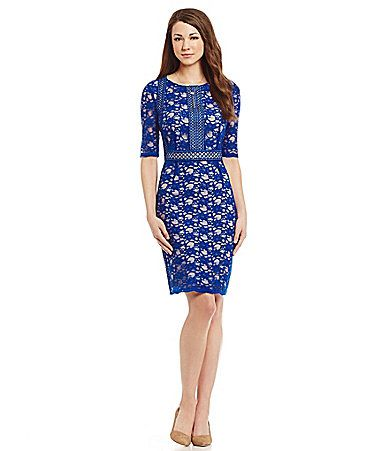 Antonio Melani Playing Favorites Annette Lace Overlay Dress #Dillards