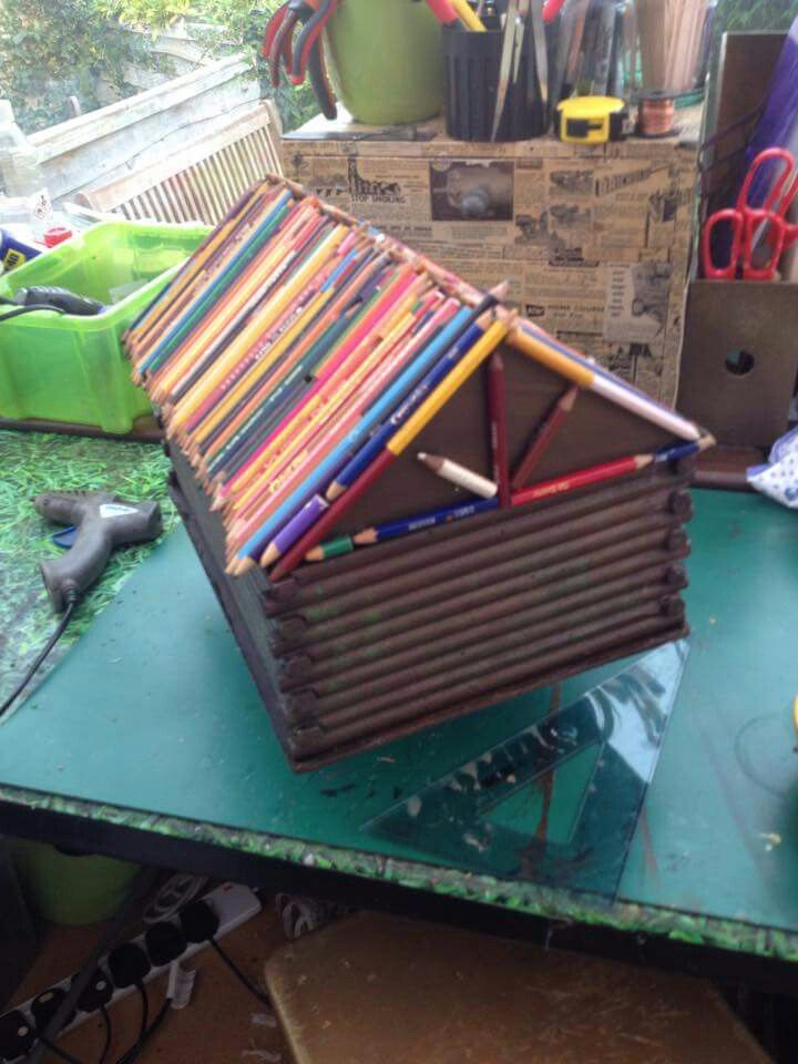 Pencil Cabin House #Midas #DollHouses #MidasDollHouses