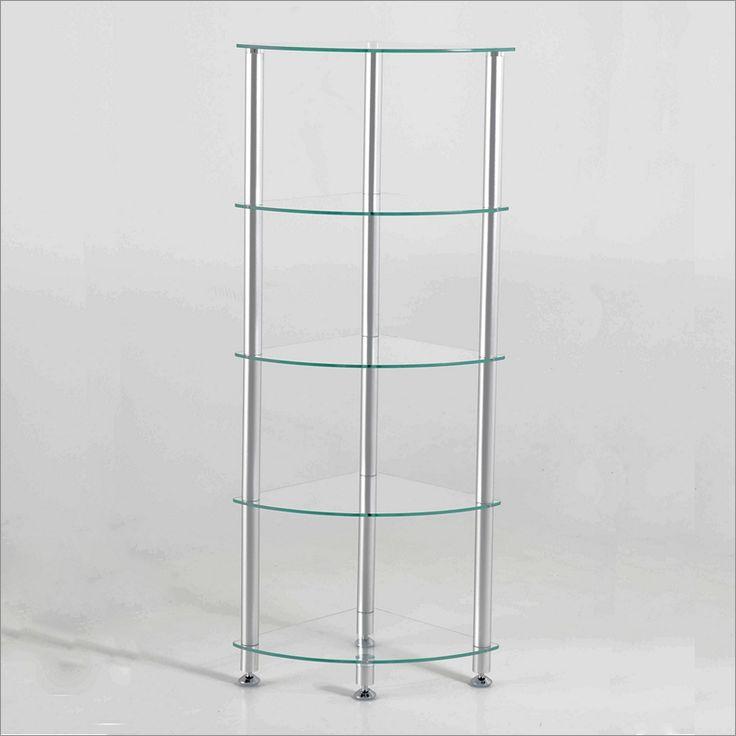 5 Tier Glass Corner Shelf Unit Woodworking Projects Amp Plans