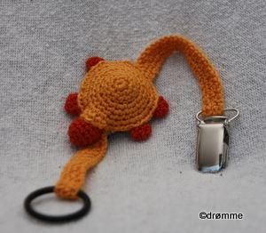 Smokkholder med skilpadde  Crochet turtle