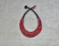 Luz lazo vintage collar collana seda tela collana / / por aBimBeri