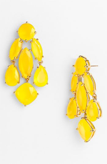 Fun and bright! kate spade new york statement chandelier earrings | Nordstrom