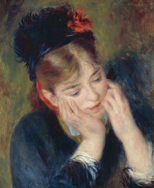 Réflexion - Pierre Auguste Renoir 1877