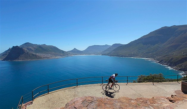 Cycling in Cape Town's Hout Bay