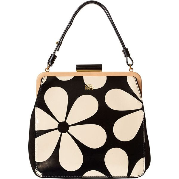 Orla Kiely Snowdrop Printed Patent Leather Holly Bag (5.685.175 VND) ❤ liked on Polyvore featuring bags, handbags, shoulder bags, marble, patent leather purse, pink purse, patent handbags, patent leather handbags and long purses