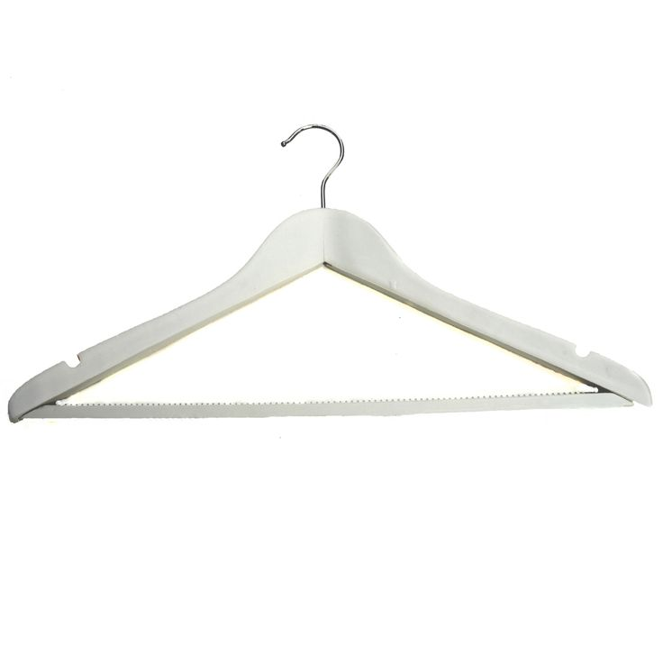 Buy H and L Russel Maple Wood White Clothes Hangers 3pk | Clothes Hangers | The Range