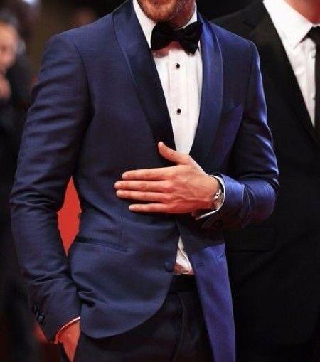 Smocking bleu pour le marié - costume du marié