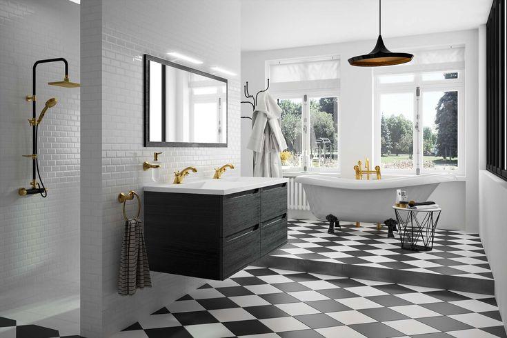 Meuble de salle de bain cedam gamme feeling d cor - Meuble de salle de bain style retro ...