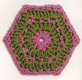 Patrón #1426: Hexágono a Crochet | CTejidas [Crochet y Dos Agujas]