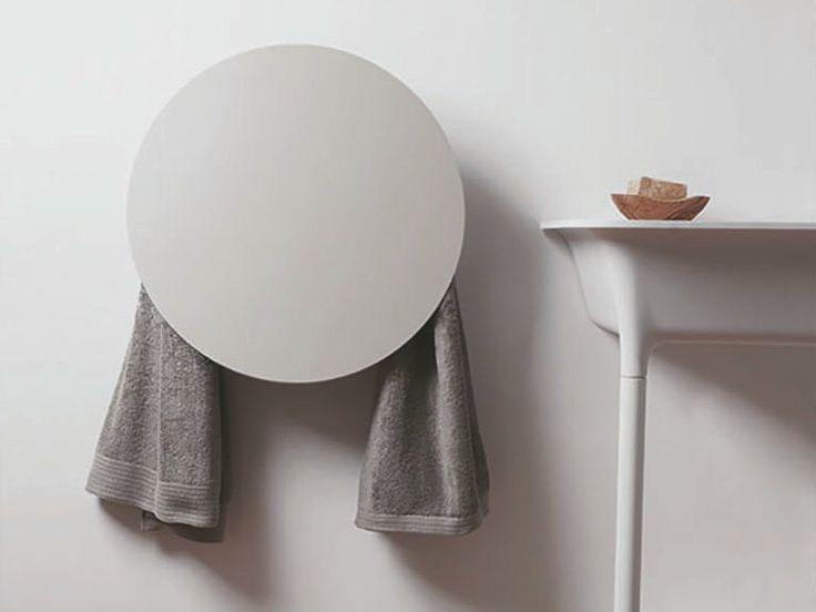 Electric wall-mounted aluminium towel warmer ROUND I Geometrici Collection by mg12 | design Monica Freitas Geronimi