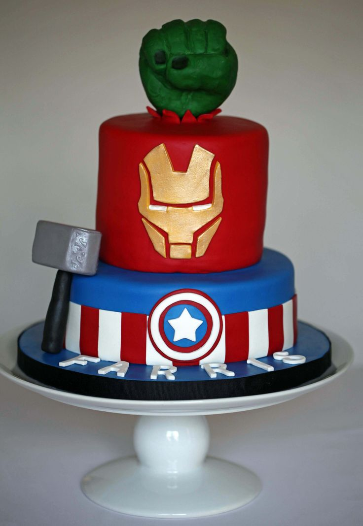 124 best Cakes Avengers images on Pinterest Avenger cake