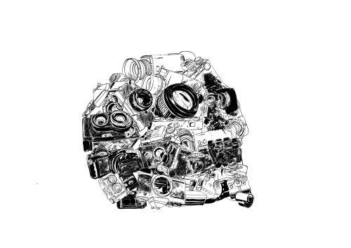 """analogue"", free project, 2015 digital illustration (photoshop, illustrator)"