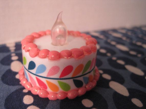 American Girl Doll Sized Light Up Birthday Cake ~ Play Food ~ Accessory ~ Dessert ~ Snack ~ Sweets ~ Treats