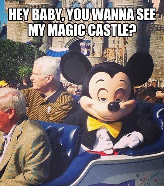 Don't be creepy, Mickey