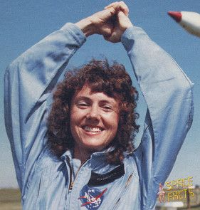 "Christa McAuliffe, born September 2,1948, was a teacher, and was slated to be the first civilian in space, assigned to fly about the ill-fated space shuttle ""USS Challenger""."