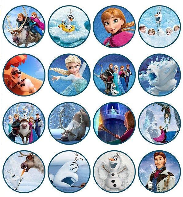free frozen cupcake toppers   Frozen: Toppers para Imprimir Gratis.