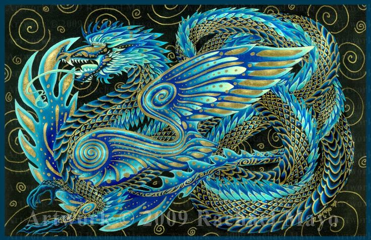 """Stone Dragon 07: Turquoise Dawn"" by Rachael Mao/elfwood.com"