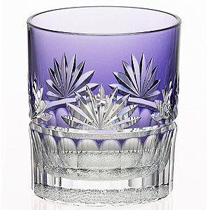 Hakamamon (glass) Kagami Crystal Edo Kiriko