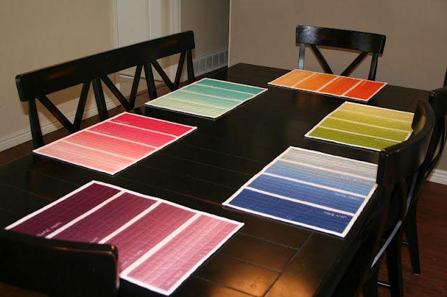 Paint Chip Placemats #modabakeshop #modafabrics #lovepinwin