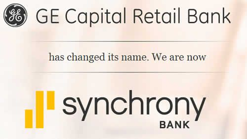 Please remember that your GE capital account number, and services, are all the same, just the brand name changed and now its Synchrony Bank. Description from mybillcom.com. I searched for this on bing.com/images