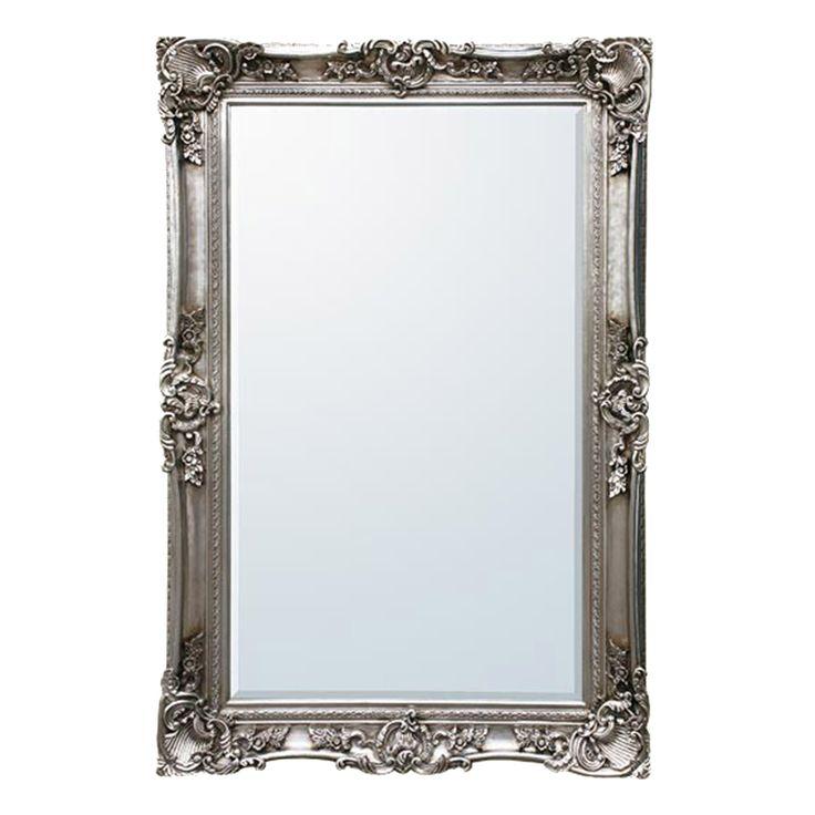 Bevelled floor standing mirror