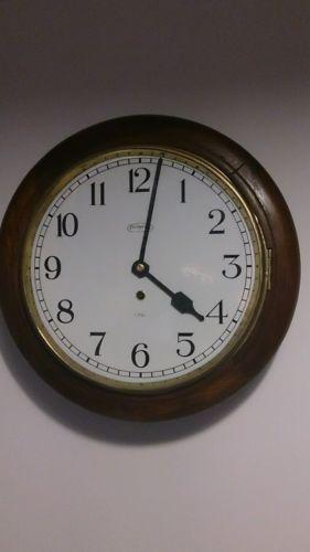 Ingraham-school-railway-clock-8-day-1940-039-s