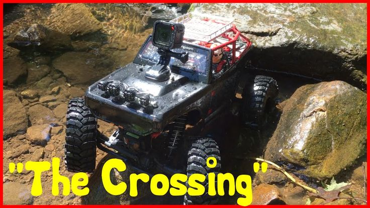 "CRAZY! Axial Rock Crawler in Water ""The Crossing"" With Axial AX10 Deadbolt"