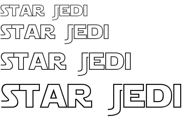 star jedi font typeface