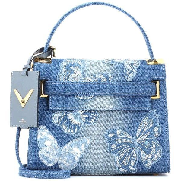 Valentino Denim Handbag ($2,690) ❤ liked on Polyvore featuring bags, handbags, shoulder bags, blue, bolsas, purses, valentino, valentino handbags, tote handbags and blue tote bag