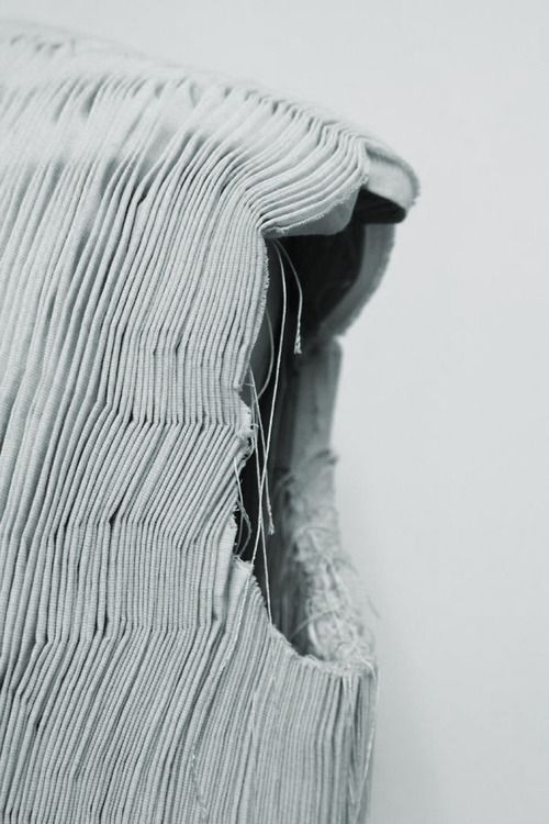 Micro Pleats - structural fabric manipulation for fashion - fine pleated textures; textile surface creation