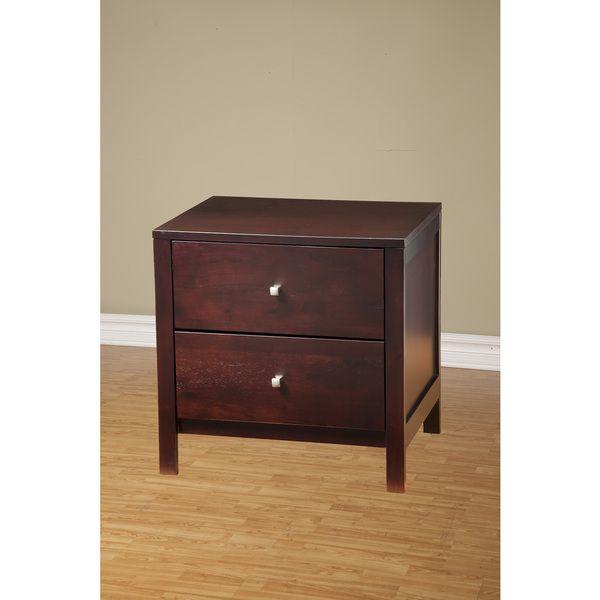 Alpine Furniture Solana 2 Drawer Nightstand By Alpine Furniture